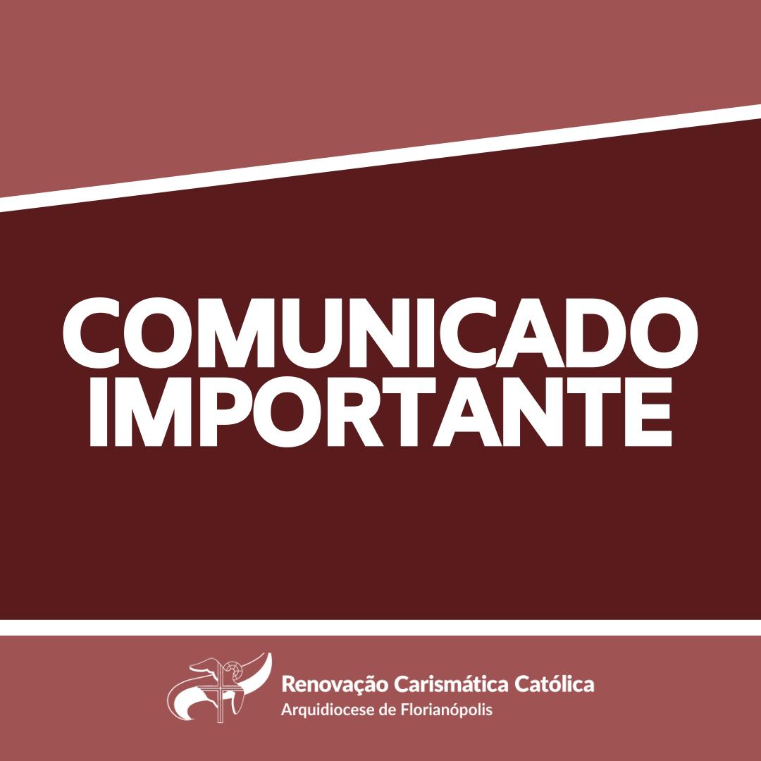 RCC Arquidiocese de Florianópolis solicita a suspensão de todas as atividades dos Grupos de Oração